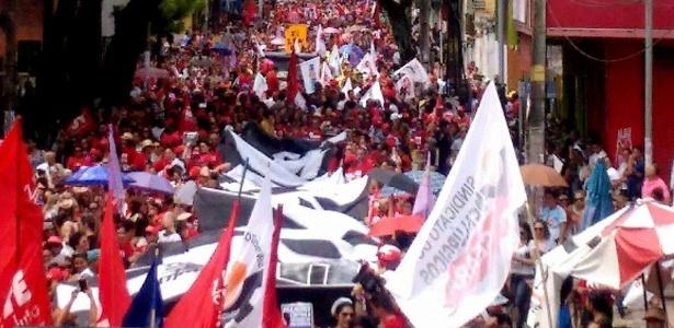 Fortaleza: manifestação reúne sindicatos na região central da capital do Ceará - Reprodução/Facebook/CSP - Conlutas