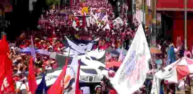protesto fortaleza - Reprodução/Facebook/CSP - Conlutas - Reprodução/Facebook/CSP - Conlutas