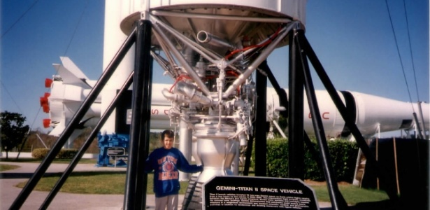 Lucas em visita à Nasa aos10 anos no Space Kennedy Center