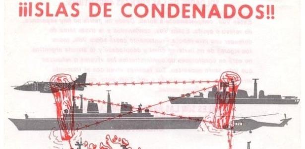 Panfleto produzido para afetar disposição psicológica das tropas argentinas na Guerra das Malvinas