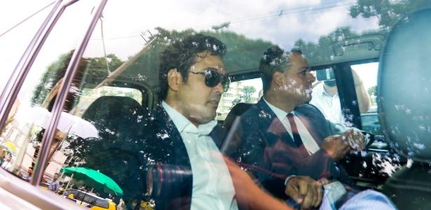 O ex-deputado estadual Fernando Ribas Carli Filho, ao chegar ao tribunal em Curitiba - Theo Marques/Framephoto/Estadão Conteúdo