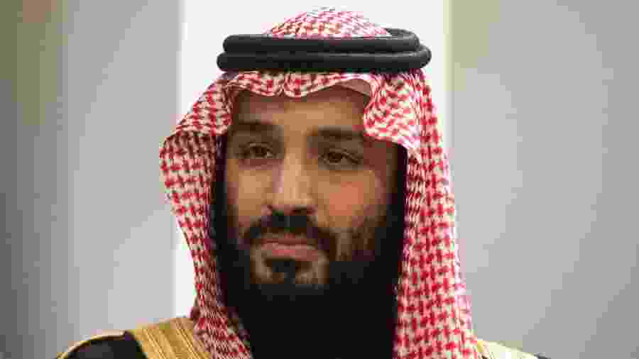 27.mar.2018 - O príncipe saudita Mohammed bin Salman Al Saud - Bryan R. Smith/AFP Photo