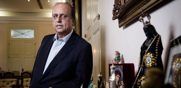 31.jul.2018 - O governador do Rio de Janeiro, Luiz Fernando Pezão, no Palácio da Guanabara