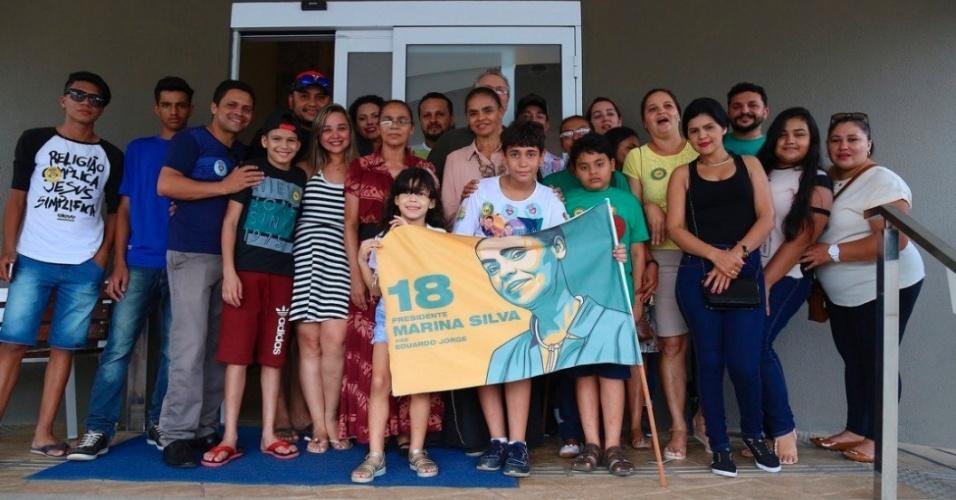 Marina Silva, candidata à Presidência da República pela REDE, publica foto ao lado de seu eleitorado