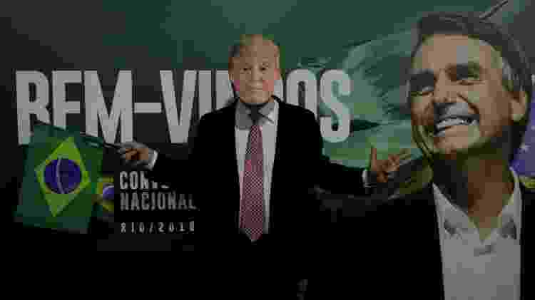 Apoiador de Bolsonaro usa máscara de Donlad Trump durante convenção do Partido Social Liberal (PSL) - Ricardo Moraes/Reuters
