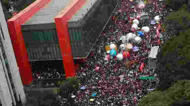 15.maio.2019 - Protesto em SP contra reforma da Previdência e cortes na educação - Amanda Perobelli/Reuters