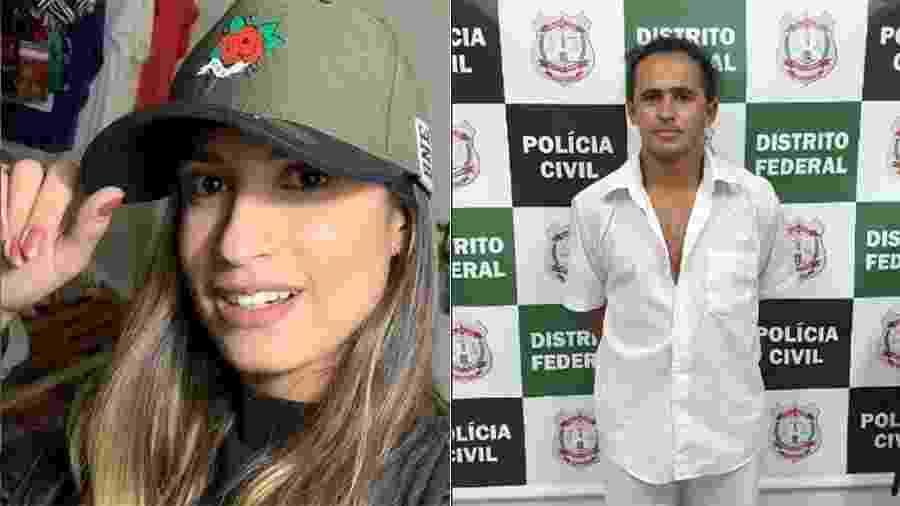 Marinésio (dir.) foi denunciado pelo MP como autor do assassinato de Leticia (esq,) - Reprodução/Instagram - Polícia Civil