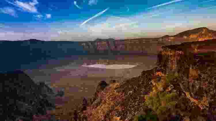 Cratera vulcânica de Al Wahbah - Getty Images - Getty Images