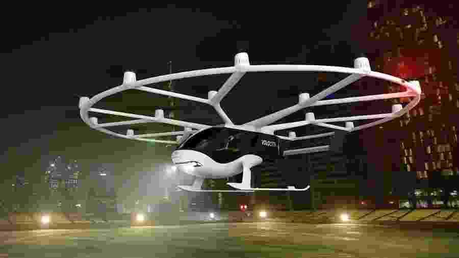 Modelo de táxi voador da Volocopter - Volocopter/Divulgação