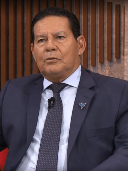 O vice-presidente Hamilton Mourão - Reprodução/Globonews