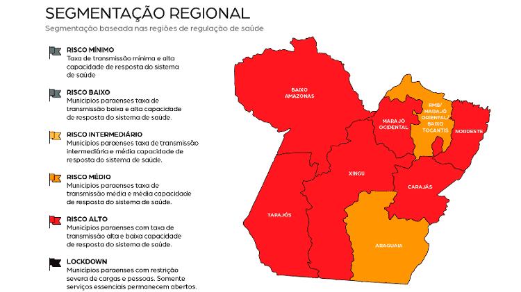 """Parte do plano """"RetomaPará"""" em meio à pandemia do novo coronavírus - Reprodução / Twitter - Reprodução / Twitter"""