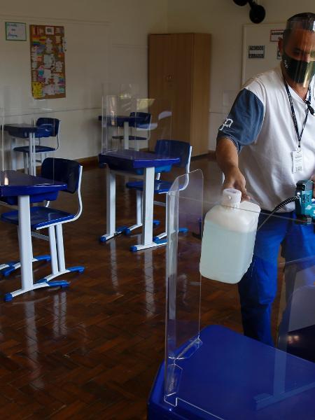 Professores são contra a volta às aulas presenciais sem a imunização completa da categoria - Miguel Schincariol/Getty Images