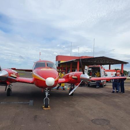 Aeronave dos Bombeiros transporta primeiro passageiro de Santa Catarina para o Espírito Santo - Corpo de Bombeiros Militar/ Divulgação