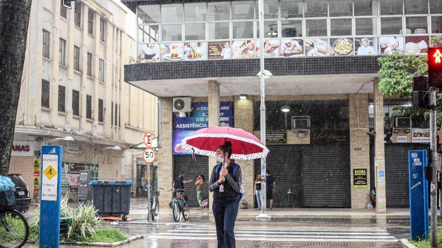 06.mar.21 - Chuva coloca SP em estado de atenção para alagamentos - FABRÍCIO COSTA/ESTADÃO CONTEÚDO