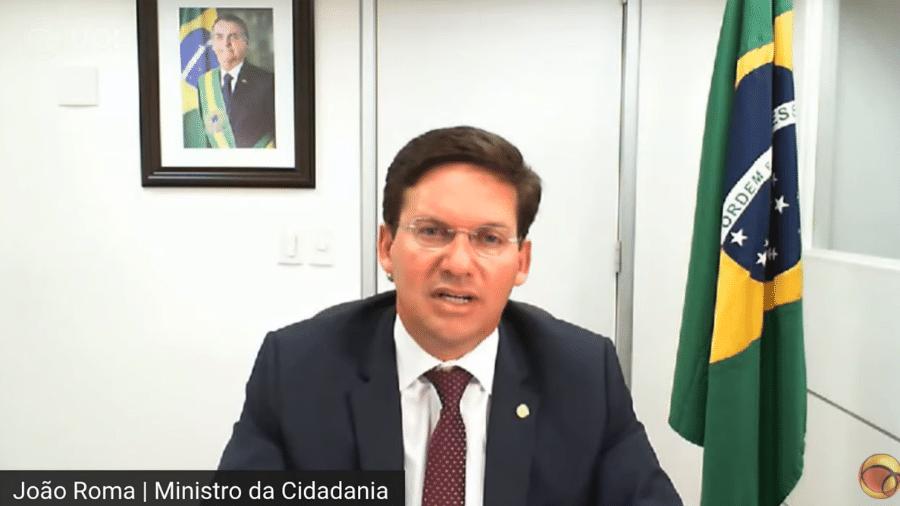João Roma, ministro da Cidadania, pediu permissão a Paulo Guedes - Reprodução