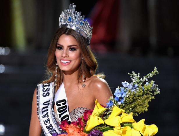 A colombiana Ariadna Gutiérrez chegou a ser coroada vencedora do Miss Universo 2015, mas ficou em segundo lugar, cedendo o título a Pia Alonzo Wurtzbach, das Filipinas