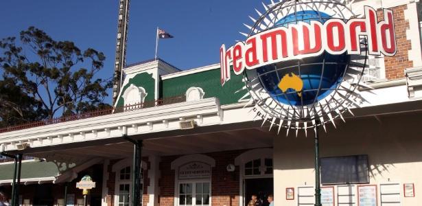 O parque Dreamworld tem quase 40 brinquedos e atrações.