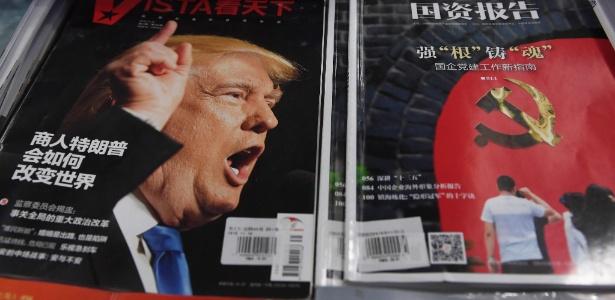 """Presidente eleito dos EUA é alvo de críticas após ameaçar rever política de """"uma só China"""", adotada há décadas por Washington, numa aparente tentativa de conseguir vantagens comerciais"""