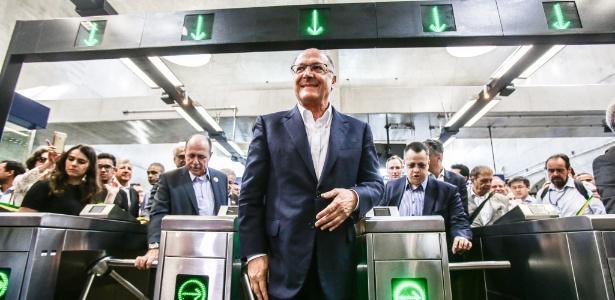 06.set.2017 - O governador de São Paulo, Geraldo Alckmin (PSDB), inaugura três estações da Linha 5-Lilás do Metrô