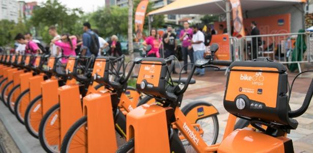 Estação do Bike Sampa no Largo da Batata, em Pinheiro, foi reinaugurada na terça (30)