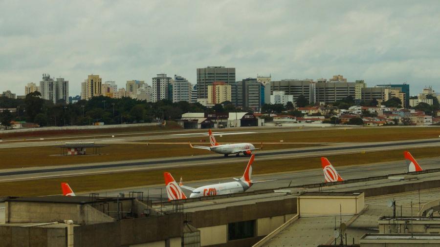 Vista do Aeroporto de Congonhas, na zona sul de São Paulo - Marco Ambrosio/Futura Press/Estadão Conteúdo