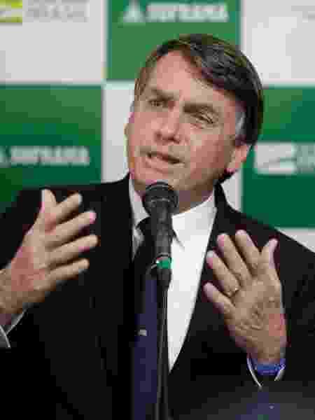 O presidente da República, Jair Bolsonaro, em Manaus - Gabriela Biló/Estadão Conteúdo