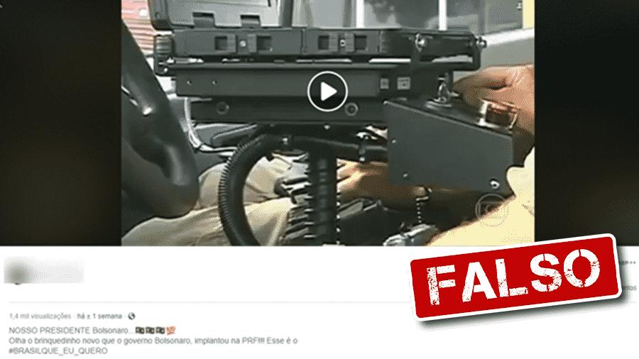 12.nov.2019 - Post traz informação falsa de que scanners da PRF foram comprados no atual governo - Arte/UOL