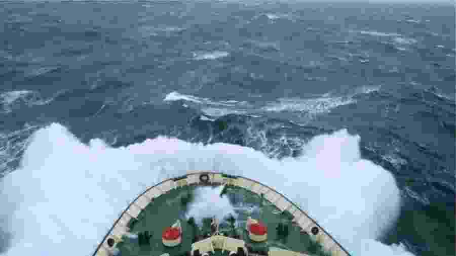 Passagem de Drake é uma região marítima que divide a Antártida da parte sul da América do Sul - Getty Images