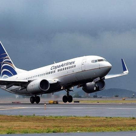 Avião da Copa Airlines, companhia panamenha que opera diversas rotas do Brasil para América do Norte e Caribe - Divulgação/Copa Airlines