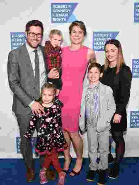 David McKean, Maeve Kennedy Townsend Mckean e os filhos, em 2019 - Getty Images
