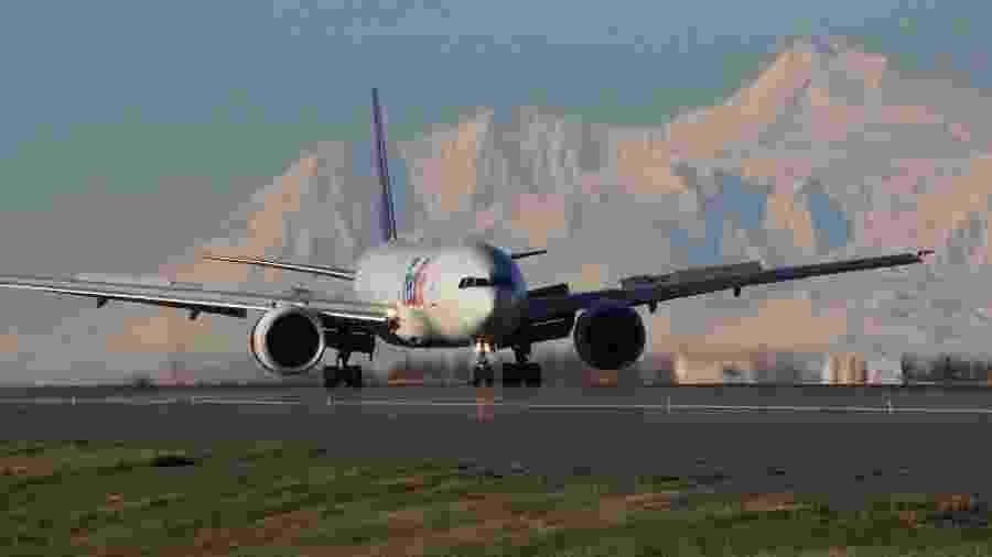 Aeroporto Ted Stevens, em Anchorage, no estado do Alasca (EUA) - Divulgação