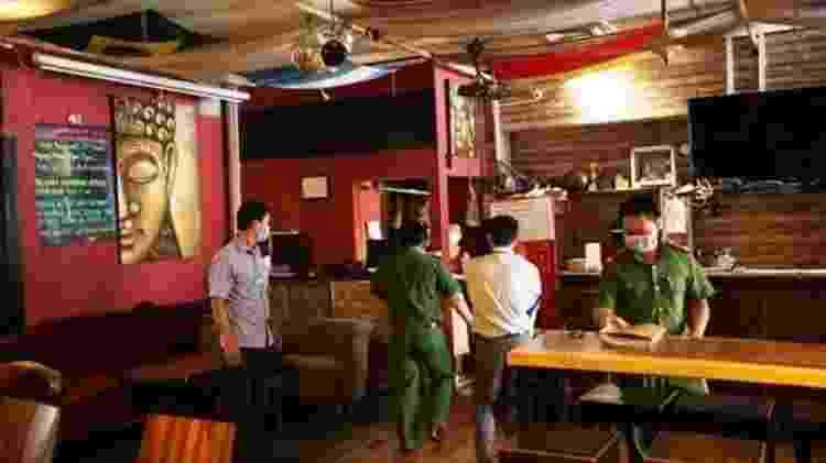O bar Buddha foi inspecionado pela polícia antes de reabrir - POLICE HANDOUT - POLICE HANDOUT