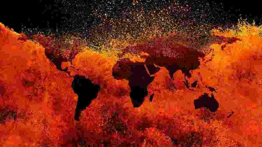 Planeta aqueceu cerca de 1 ºC, em média, desde o início da industrialização em massa - Getty Images