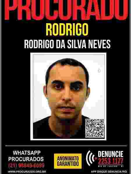 18.nov.2020 - Cabo da PM, Rodrigo Silva das Neves teve prisão temporária decretada pela Justiça, suspeito de envolvimento no assassinato do contraventor Fernando Iggnácio, fuzilado no estacionamento de heliporto no Recreio dos Bandeirantes, zona oeste do Rio - Divulgação/Disque Denúncia