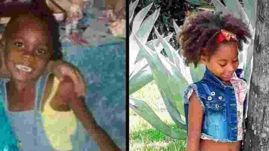 Emily Victória Silva dos Santos, 4, e Rebeca Beatriz Rodrigues dos Santos, 7, brincavam no portão de casa quando foram baleadas - Arquivo Pessoal