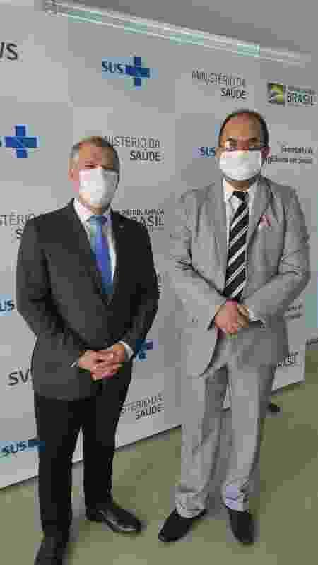 Pastor Amilton Gomes foi à vigilância sanitária do Ministério da Saúde tentar articular vacinas, junto a major da Força Aérea Brasileira - Reprodução - Reprodução