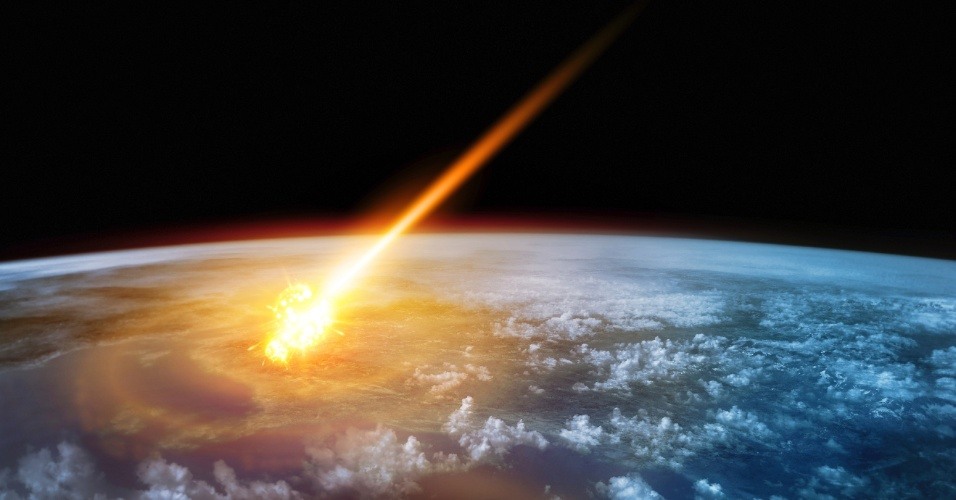 23.fev.2016 - Meteoro cai na Terra