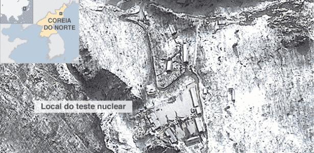mapa coreia do norte teste nuclear  bbc - BBC - BBC