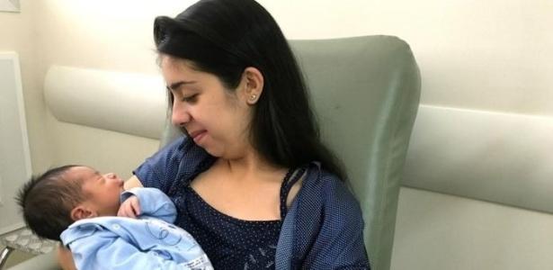 A fisioterapeuta Thais Alves conta que se sentiu acolhida pelas enfermeiras obstetras antes do parto