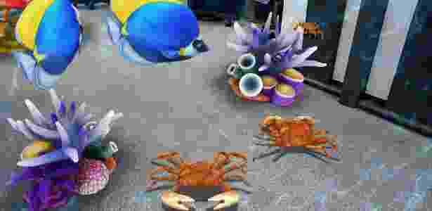 Foto usando realidade aumentada - UOL