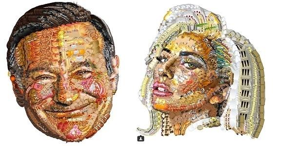 Esse cara usa emojis para criar retratos realistas de celebridades