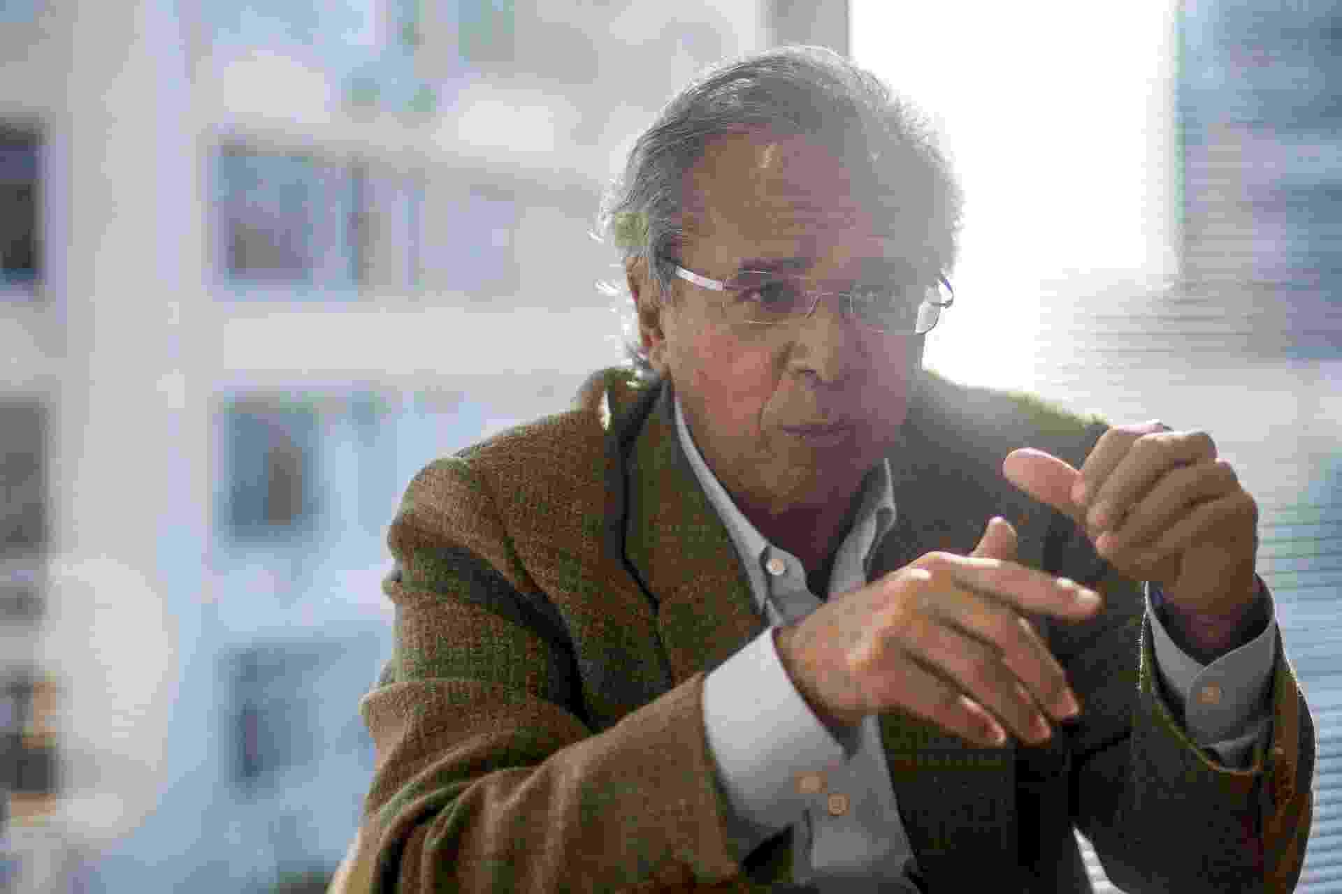 Paulo Guedes, economista da campanha do candidato a presidente do PSL Jair Bolsonaro - DANIEL RAMALHO/AFP