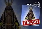 Notícia de que Bolsonaro mudará imagem da padroeira do Brasil é falsa (Foto: Arte/UOL)