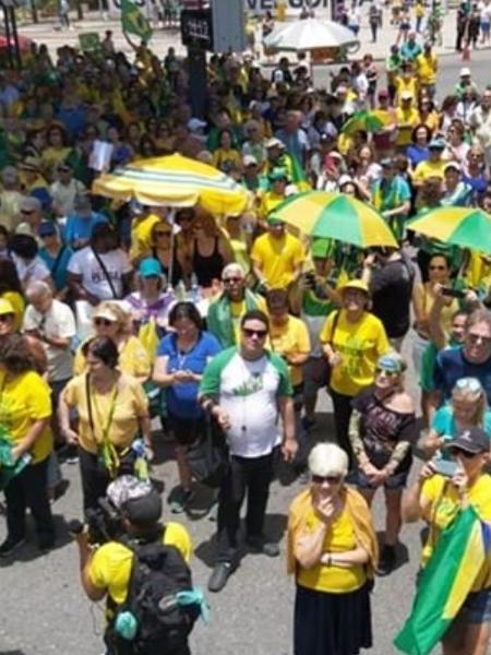 Manifestação a favor da prisão em segunda instância no Rio - Twitter/ Vem Pra Rua