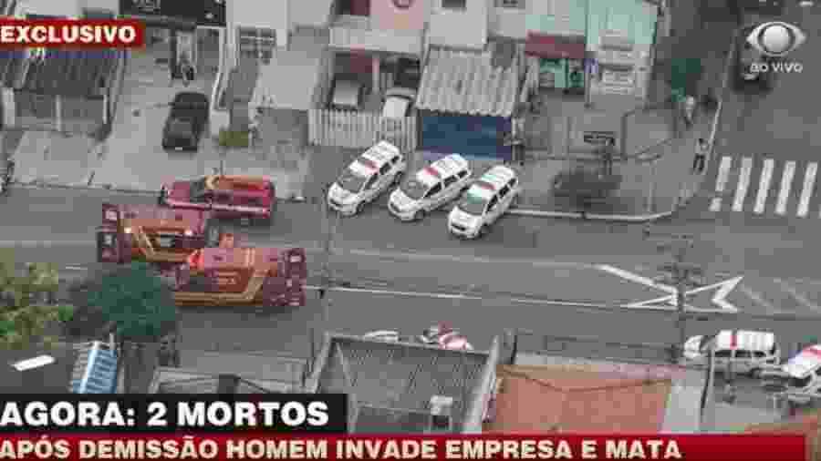 Homem invadiu empresa onde trabalhava na Zona Sul de São Paulo - Reprodução/TV Band