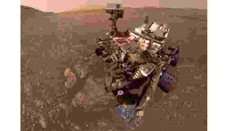 O rover espacial Curiosity, da Nasa, tem explorado a cratera Gale, em Marte, desde 2012 - NASA/JPL-Caltech/MSSS - NASA/JPL-Caltech/MSSS