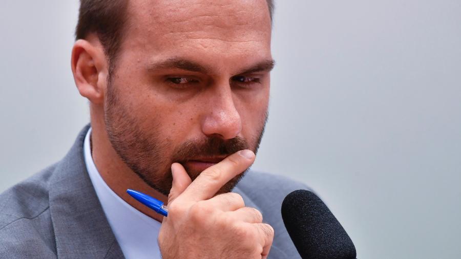 Deputado Eduardo Bolsonaro elogiu remoção de todos os juízes da Suprema Corte de El Salvador - Mateus Bonomi/AGIF