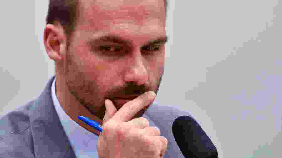 """Filho de Bolsonaro citou """"diálogo"""" como justificativa para cargos ao Centrão - Mateus Bonomi/AGIF"""