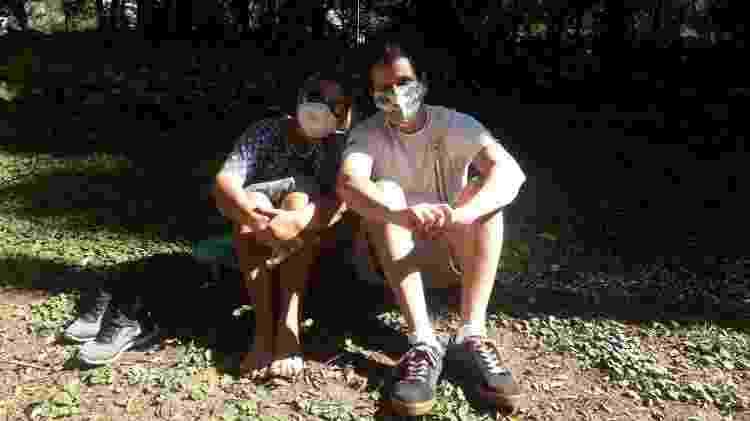 Flávia e o filho Rodolfo tomam sol no parque Buenos Aires - Wanderley Preite Sobrinho/UOL - Wanderley Preite Sobrinho/UOL