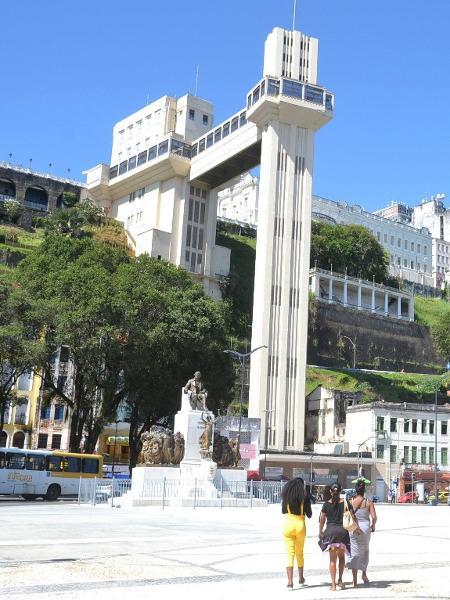 29.jun.2020 - Vista do Elevador Lacerda em Salvador (BA) - Romildo de Jesus / Estadão Conteúdo